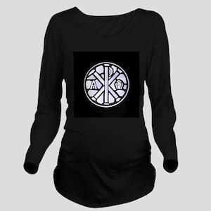 Alpha Omega Glass Wi Long Sleeve Maternity T-Shirt