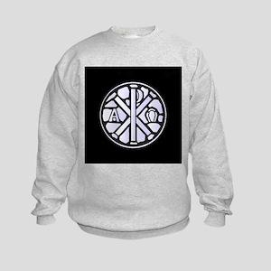Alpha Omega Glass Window Kids Sweatshirt