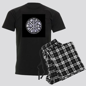 Alpha Omega Glass Window Men's Dark Pajamas