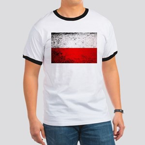 Flag of Poland Grunge T-Shirt