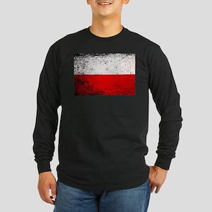 Flag of Poland Grunge Long Sleeve T-Shirt