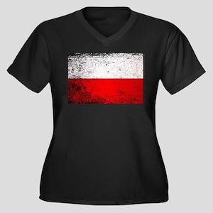 Flag of Poland Grunge Plus Size T-Shirt