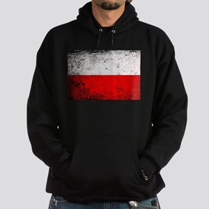 Flag of Poland Grunge Hoodie (dark)