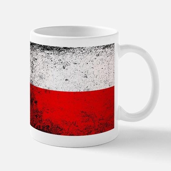 Flag of Poland Grunge Mugs