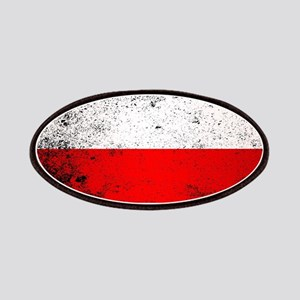Flag of Poland Grunge Patch