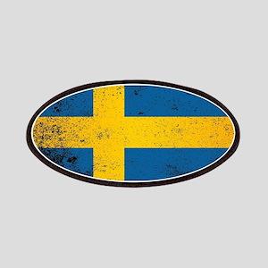Flag of Sweden Grunge Patch