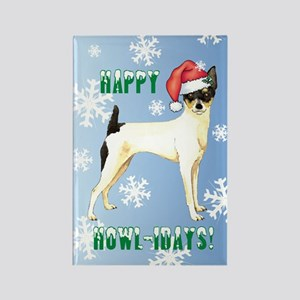 Holiday Toy Fox Terrier Rectangle Magnet