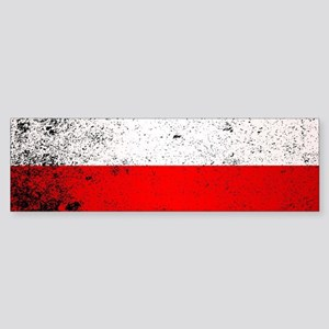 Flag of Poland Grunge Bumper Sticker