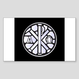 Alpha Omega Glass Window Sticker