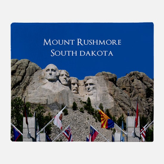 Mt Rushmore Photo Souvenir to Custom Throw Blanket