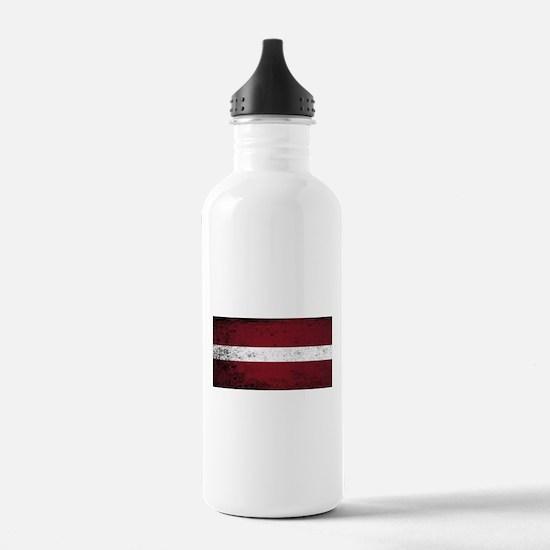 Flag of Latvia Water Bottle