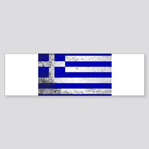 Flag of Greece Grunge Bumper Sticker