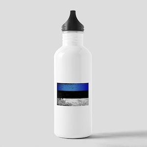 Flag of Estonia Grunge Stainless Water Bottle 1.0L