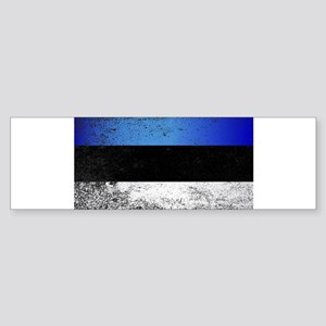 Flag of Estonia Grunge Bumper Sticker