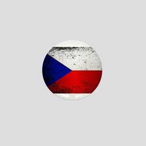Flag of Czech Republic Grunge Mini Button