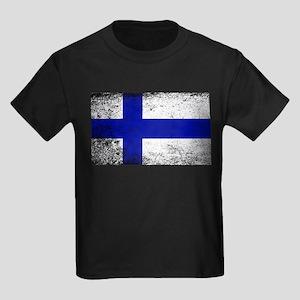 Flag of Finland Grunge T-Shirt