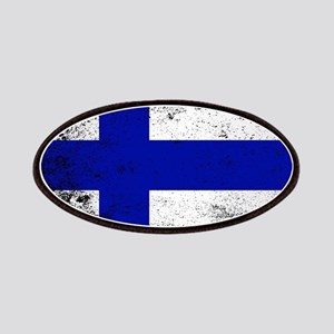 Flag of Finland Grunge Patch