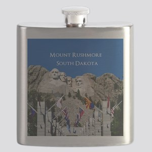 Customizable Mt Rushmore Avenue of Flags Flask