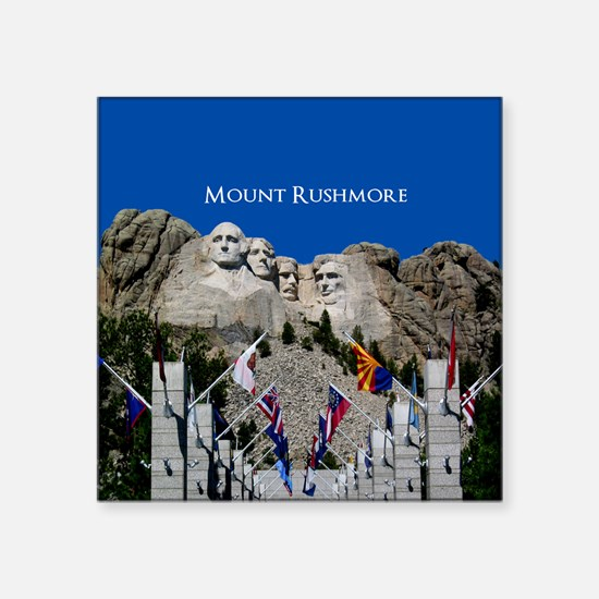 Customizable Mt Rushmore Avenue of Flags Square St