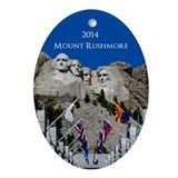 Mount rushmore Oval Ornaments