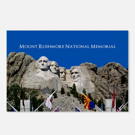 Customizable Mt Rushmore Avenue of Flags Postcards