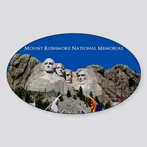 Customizable Mt Rushmore Avenue of Flags Sticker (