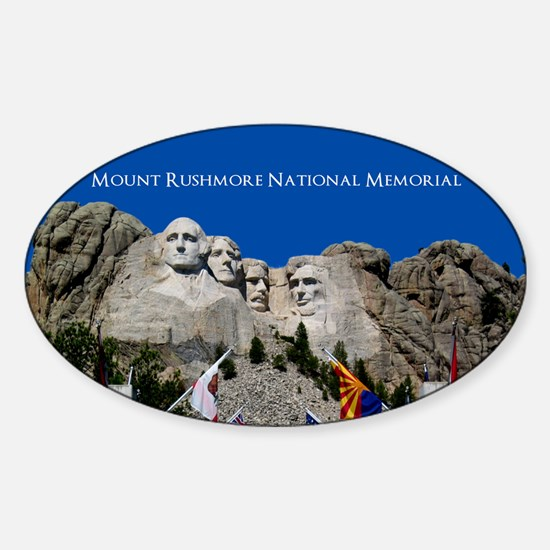 Customizable Mt Rushmore Avenue of Flags Decal