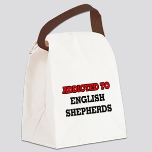 Addicted to English Shepherds Canvas Lunch Bag