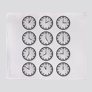 Clocks Throw Blanket