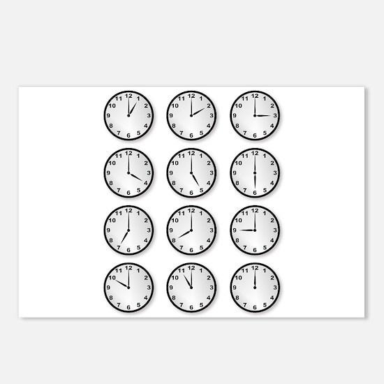 Clocks Postcards (Package of 8)