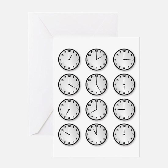 Clocks Greeting Cards