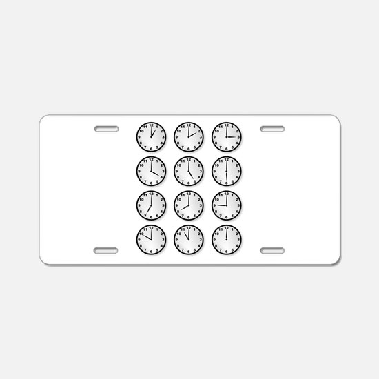 Clocks Aluminum License Plate