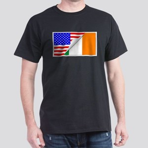 United States and Eire Flags Combined T-Shirt