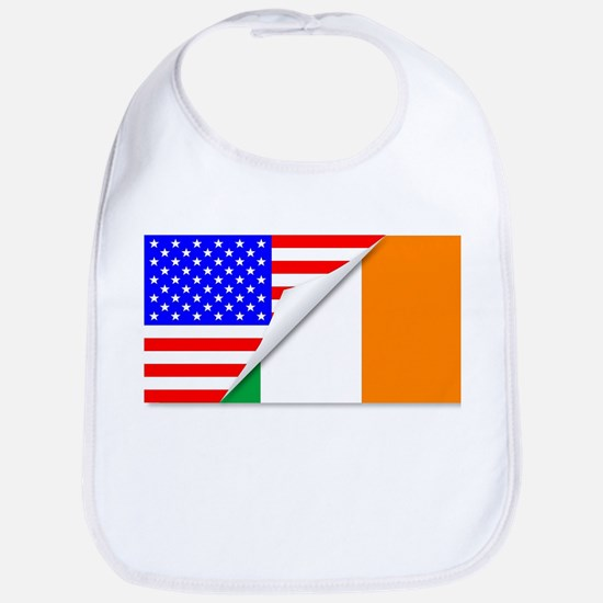 United States and Eire Flags Combined Bib