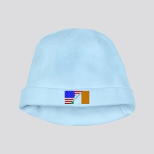 United States and Eire Flags Combined baby hat