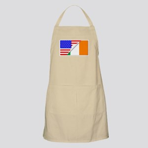 United States and Eire Flags Combined Apron
