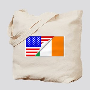 United States and Eire Flags Combined Tote Bag