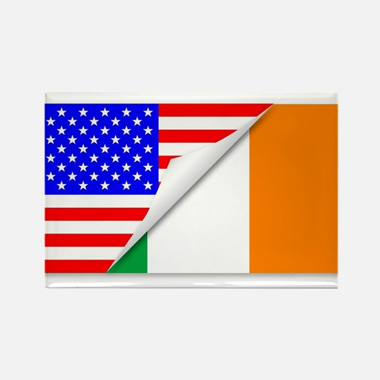 United States and Eire Flags Combined Magnets