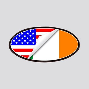 United States and Eire Flags Combined Patch