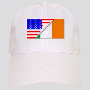 United States and Eire Flags Combined Cap