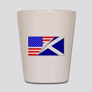 United States and Scotland Flags Combin Shot Glass
