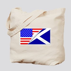 United States and Scotland Flags Combined Tote Bag