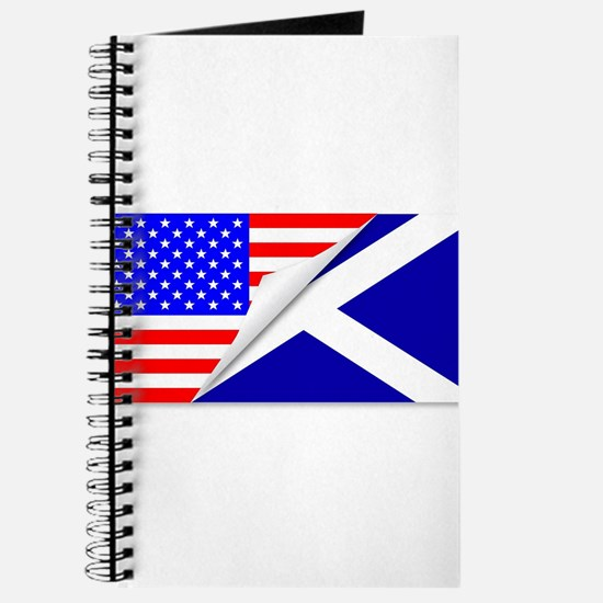 United States and Scotland Flags Combined Journal