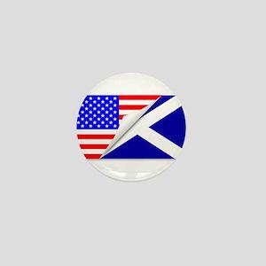 United States and Scotland Flags Combi Mini Button
