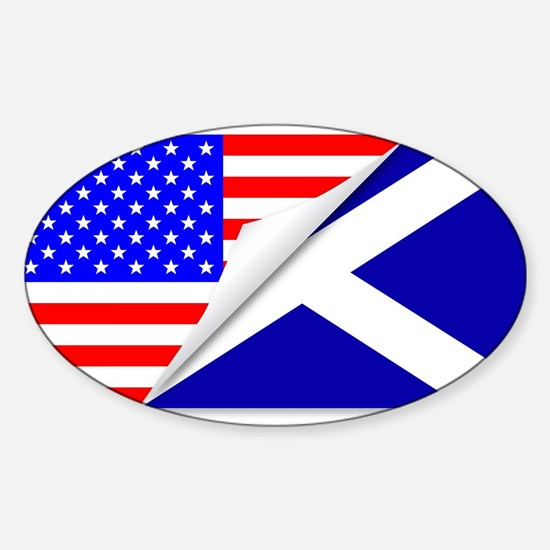 United States and Scotland Flags Combined Decal