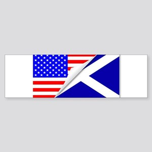 United States and Scotland Flags Co Bumper Sticker