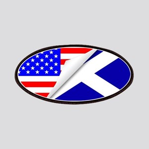 United States and Scotland Flags Combined Patch