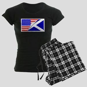 United States and Scotland F Women's Dark Pajamas