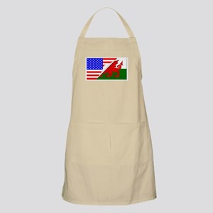 United States and welsh Flags Combined Apron