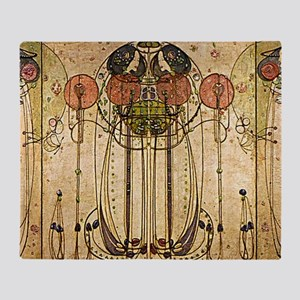 Art Nouveau The Wassail Throw Blanket